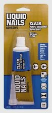 New! LIQUID NAILS Clear Small Projects Silicone Adhesive Glue 2.5 oz. LN-207