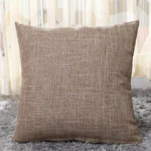 "Large  Linen Cushion New UK 16"" 18"" 20"" 22"" Cases Pillow   Plain Home Decor"