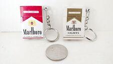 Vintage Rare Marlboro & Marlboro Lights  Mini Lighter Keychain Keyring 2 Lot