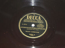 HOAGY CARMICHAEL An Old Piano Plays the Blues/ Laughing Boy 78 DECCA 24591