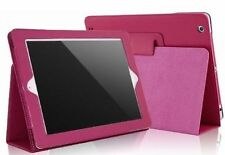 APPLE IPAD 2 HOT PINK LEATHER FLIP CASE COVER PROTECTOR TYPING STAND SLIM