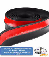 Lip tira de caucho negro paragolpes defensa coche 2,5 m (Envio express)
