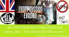 Front Mission Evolved Vapor clave no VPN región libre de Reino Unido Vendedor