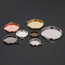 20pcs Blank Round Cabochon Base Tray Bezels Blank Setting For DIY Making Pendant