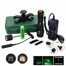 Green/Red/White Hunting Light 5000 Lumens Tactical Adjustable Focus Torch Lamp