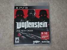 WOLFENSTEIN THE NEW ORDER...PS3...**BLACK LABEL**SEALED**BRAND NEW**!!!!