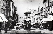 Plain Back Card Tram Derby Corporation Tramways In St Peters St Derbyshire R P