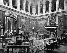 Photo. 1880s. Buckinghamshire, UK. Interior of Mentmore Towers - Hall