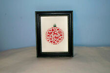 JBW DESIGNS COMPLETED CROSS STITCH PICTURE CHRISTMAS ORNAMENT FRAMED