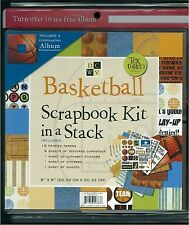 "Coach's Gift or Team Party Project!  8""x8"" Basketball Scrapbook Kit, DCWV, NEW"