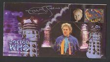 Dr Who revelación del Daleks Ltd Edition Cover Firmado Colin Baker.