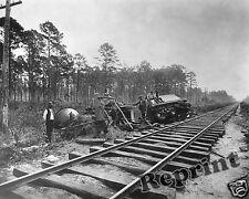 Photograph of a Train Wreck in Charleston, South Carolina Year 1886 8x10