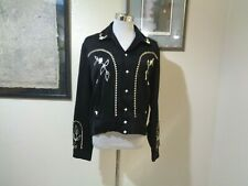New listing 1950s Mac Murray Of California Black Embroidered Snap Front Rockabilly Jacket