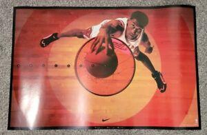"""1995 Nike Poster 23"""" X 35"""" Scottie Pippen Bullseye Chicago Bulls Very Rare VTG"""