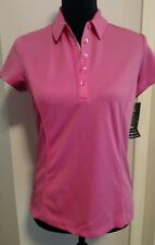 PGA Tour Womens SMALL Polo Shirt Pink Airflux Sunflux UPF50 Easy Care