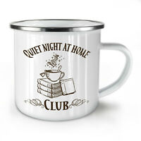 Coffee Reading Club NEW Enamel Tea Mug 10 oz | Wellcoda
