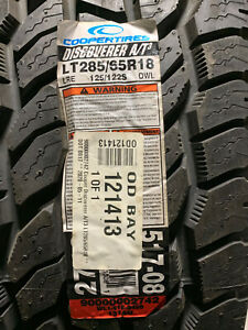 1 New LT 285 65 18 LRE 10 Ply Cooper Discoverer A/T3 Tire