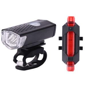 LED Bicicletta Fanale Lampada Frontale Ricaricabile USB Faro Posteriore Ciclismo