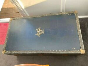 WATAJOY London Vintage Steamer travel Trunk Steamline Luggage (LARGE)1920's-1930
