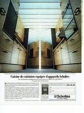 PUBLICITE ADVERTISING 0217  1981  Vogica cuisine équipée appareils Scholtès