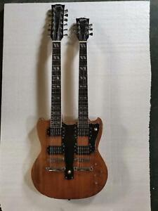 Doubleneck Electric Guitar 12/6 String Solid Mahogany Body Chinese Edition