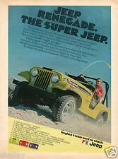 1972 Print Ad of Jeep Renegade The Super Jeep toughest 4 letter word on wheels