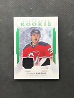 2016-17 UD ARTIFACTS STEVEN SANTINI ROOKIE JERSEY PATCH EMERALD #ed 22/99