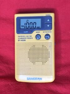 Sangean DT-400W Portable  Radio with Weather Bands - TESTED