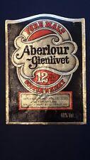 ETICHETTA WHISKY ALBERLOUR GLENLIVET  12  YEARS OLD
