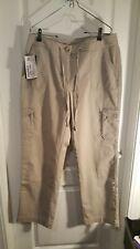 LL Bean Women's Khaki Brown Cargo Pants Favorite Fit Size 12, NWT NEW