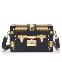 Vintage Handbags Clutch Retro Women Panelled Box Rivet Cross Body Shoulder Bags
