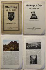 Original Prospekt Marburg an der Lahn 1913 Hessen Geografie Ortskunde Reise sf