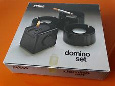 Marron design Domino set NOIR briquet cube-cendrier inutilisé OVP rar