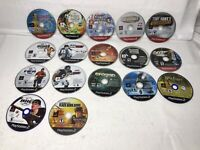 Lot of 17 Loose PlayStation 2 Game Discs Only W/Carry Case AS IS UNTESTED