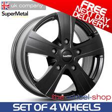 "4 x 16"" Fiat Ducato SuperMetal 'Hammer' Black Alloy Wheels - PCD 5x130"