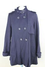 Ladies Warehouse Navy coat Size 12 wool blend button front