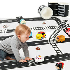 7pcs Kids Car Road Adhesive Tape Play Room Floor Sticker Removable Track Toy DIY