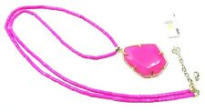 KENDRA SCOTT Beatrix Gold Plated Magenta Color Agate Pendant Long Necklace