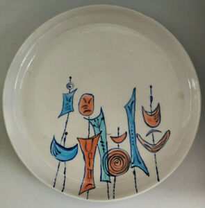 Large Pottery Plate signed by artist