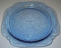 "Federal Glass MADRID Blue Dinner Plate 10½"" Depression Glassware"