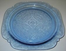 "Federal Glass MADRID Blue Dinner Plate 10½"" Depression Glassware"