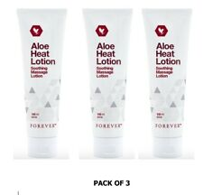 3 New Improved Forever Living Aloe Heat Soothing Massage Lotion Pack 3 Exp. 2021