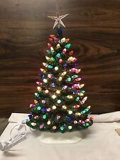 """Unique Ceramic Christmas Tree 15"""" For Mantle / Windowsill Free Priority Shipping"""