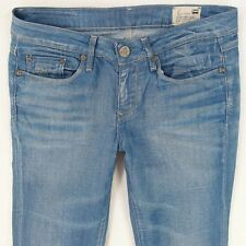 Ladies Womens G-Star 3301 BELL CUT Stretch Flare Blue Jeans W29 L32 UK Size 10
