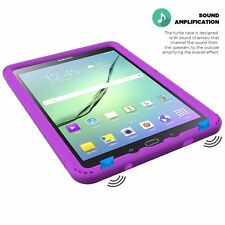 Poetic Turtle【Shockproof】Silicone Case For Samsung Galaxy Tab S2 9.7 Purple