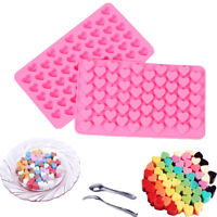 55 Cavity Mini Heart Shape Silicone Fondant Mold Cupcake Chocolat Baking Mould