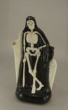 "Original Vintage Halloween Table Top Blow Mold Skeleton 14 1/4"" Tall Works!"