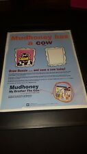 Mudhoney My Brother The Cow Rare Original Promo Poster Ad Framed!