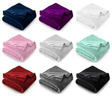 Large Flannel Fleece Throw Luxury Extra Soft Reversible Bed Warm Blanket 350 Gsm