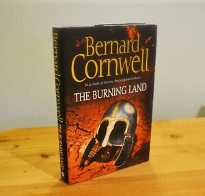 The Burning Land by Bernard Cornwell signed in excellent condition